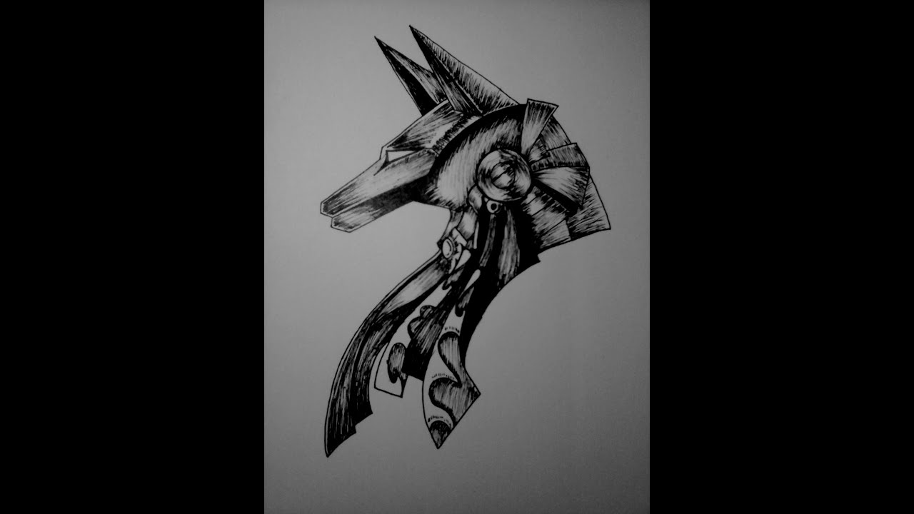 How to Draw Anubis Egyptian God Drawings
