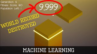 AI learns to DESṪROY Stack World Record (Machine Learning)