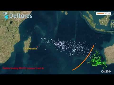 Debris tracking flight MH370 based on ocean currents
