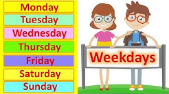 LEARN THE WEEKDAYS