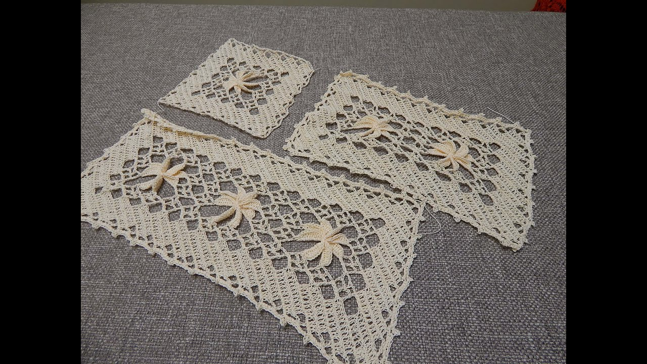 Cuadrados De Ganchillo Paso A Paso Flor 3d Crochet Rectangular Parte 1 De 3 Youtube