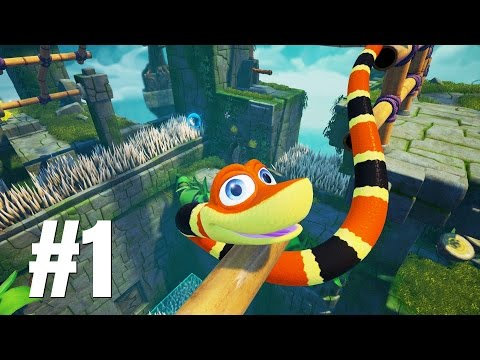 Snake Pass Gameplay Walkthrough Part 1 - No Commentary (PC)
