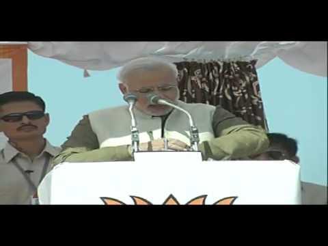 Shri Narendra Modi addressing a Public Meeting in Sikar, Rajasthan