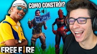A FREE FIRE PLAYER LOST AT FORTNITE!! RI VERY!!