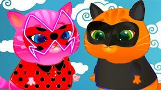 ЛЕДИ БАГ и СУПЕР КОТ = Кошка КАТЯ и КОТЕНОК БУБУ #80  Котик Bubbu одевается в супергероя #пурумчата