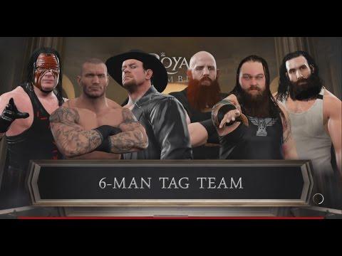 WWE 2K17-Randy Orton U0026 Kane U0026 Undertaker Vs The Wyatt Family -6 Man Tag Team Match(PS4)