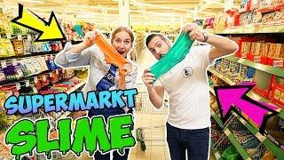 SUPERMARKT SCHLEIM CHALLENGE - Nina Vs Kaan - Wer macht den besten Slime & kauft alles ein?