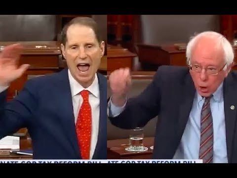 Senators Ron Wyden and Bernie Sanders Get Pissed And Team Up Yelling About Republican Tax Bill