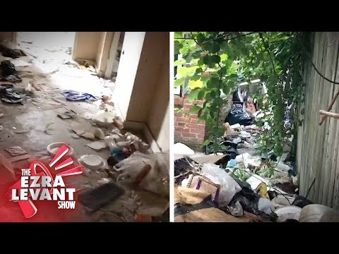 Locals show Ezra Levant abandoned homes, rat-infested garbage in Baltimore