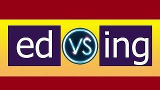 53 В чем разница окончаний ED и ING (Participle II and Participle I)?
