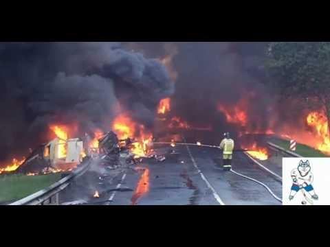 Масштабное ДТП в США: в штате Мэриленд перевернулся и взорвался бензовоз