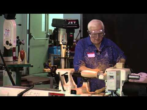 Woodturning: Alan Carter turns a Suspended Vessel