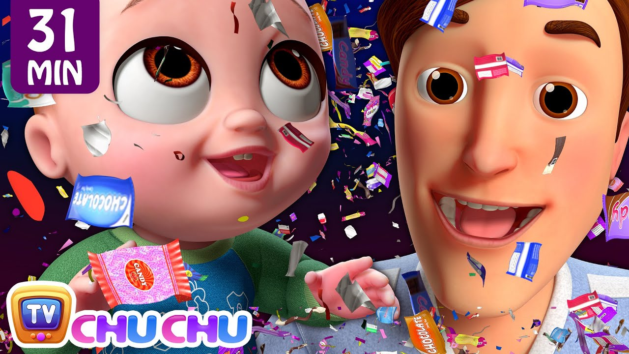 NEW Johny Johny Yes Papa Confetti Song + More ChuChu TV 3D Nursery Rhymes & Kids Songs