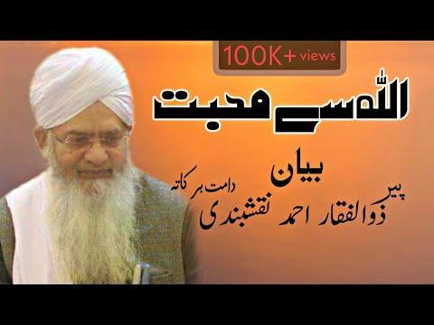 Allah se Mohabbat by peer zulfiqar ahmad naqshbandi bayan |پیر ذوالفقار احمد نقشبندی |بیان