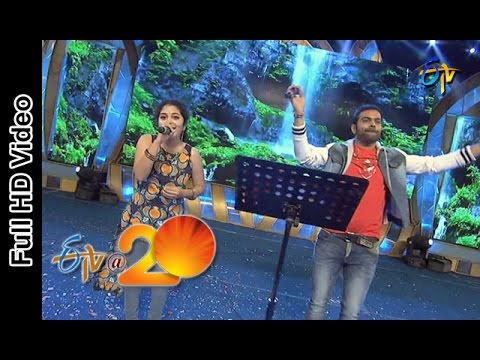 Dhamini and Sriram Chandra Performs - Pacha Bottesina Song in Rajamandry ETV @ 20 Celebrations