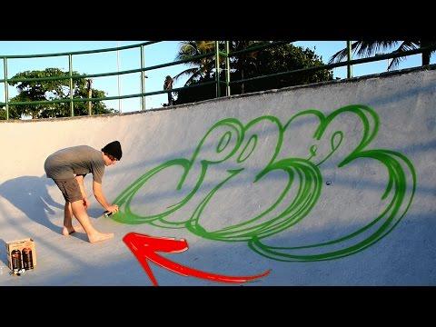 GRAFFITI NA PISTA DE SKATE!!!
