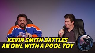 Kevin Smith Battles an Owl with a Pool Toy