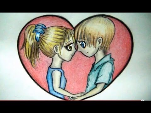 Como Dibujar Una Pareja Enamorada Dibujo Fácil De Amor Youtube