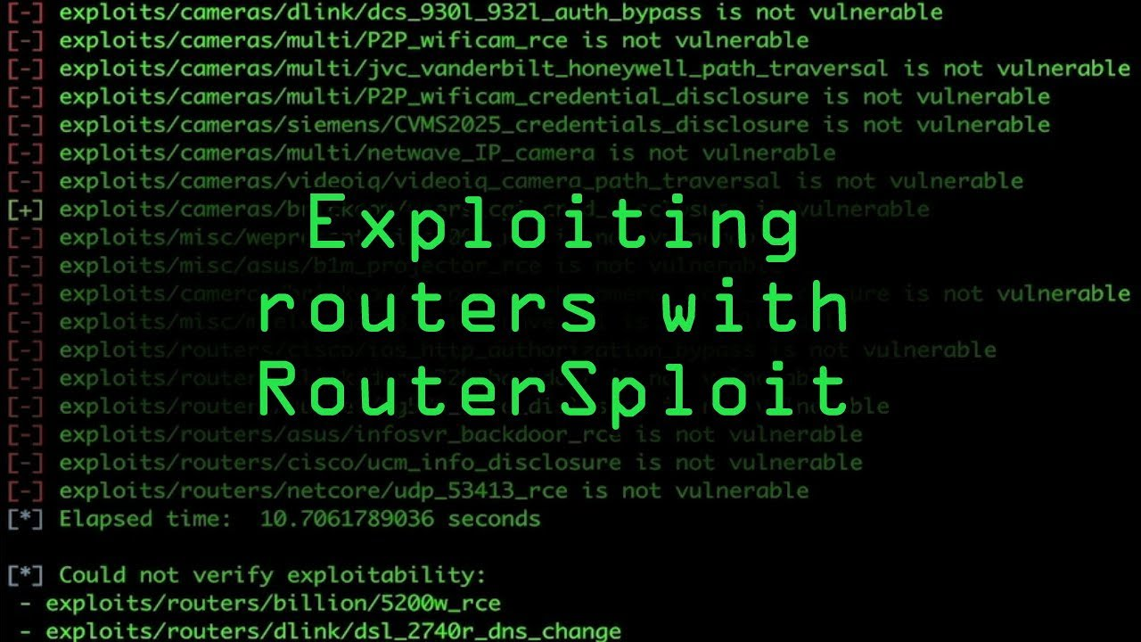 How to Seize Control of a Router with RouterSploit « Null Byte
