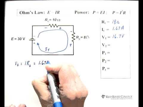2. Basic DC Series Circuit - YouTube