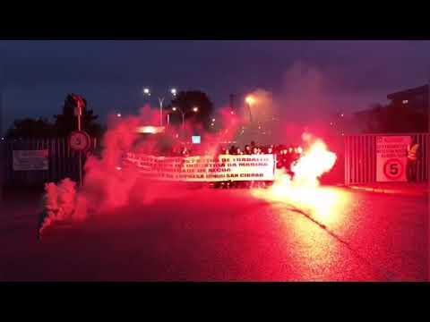 Continúan as protestas dos traballadores de Reymogasa
