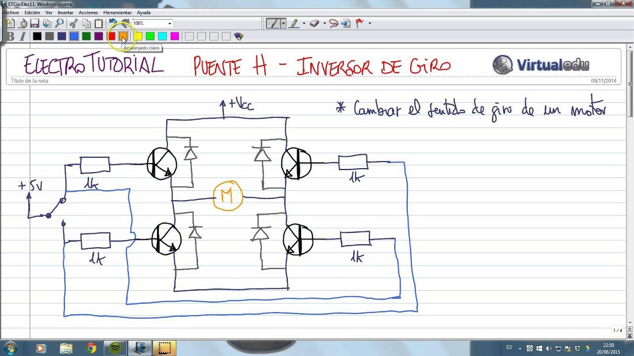 Circuito H : Electrotutorial circuitos puente h inversor de giro