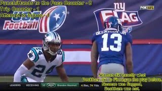 Odell Beckham Jr. is a Dirty Player! - All of His Fights & Cheap Shots vs Panthers and Josh Norman