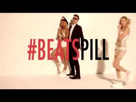 Beats by Dre #Beatspill Werbung mit dem Song Blurred Lines von Robin Thicke feat. T.I. & Pharell