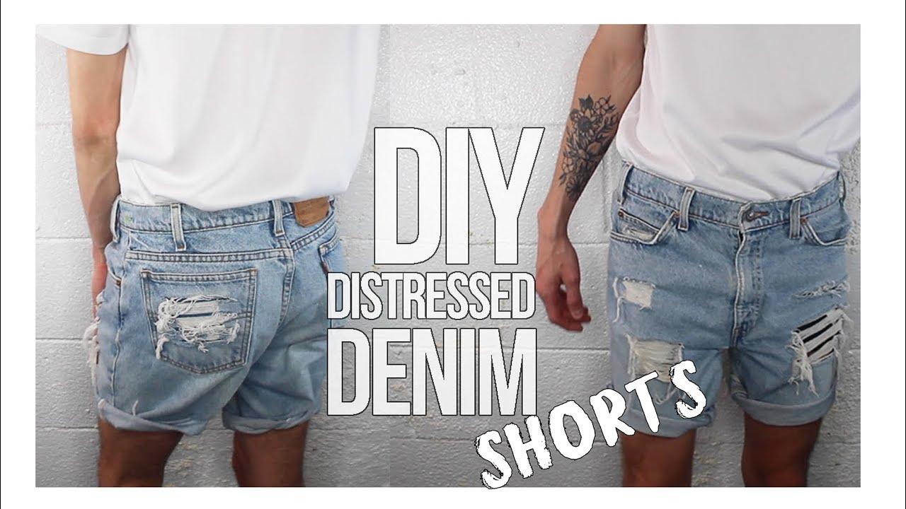 DIY Distressed Denim Shorts | Toto Glenn - YouTube