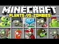 Minecraft PLANTS VS ZOMBIES MOD! | GROW PLANTS AND DEFEAT ZOMBIES! | Modded Mini-Game