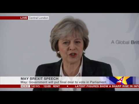 Prime Minister Theresa May Speech & News Conference on Brexit - 17 Jan 2017