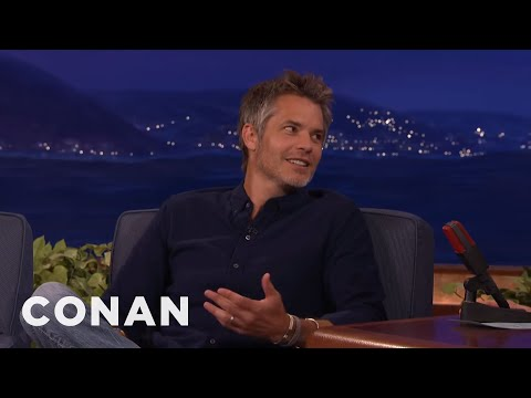 Timothy Olyphant Loves Stealing Room Service Silverware   CONAN on TBS