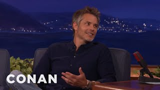 Timothy Olyphant Loves Stealing Room Service Silverware  - CONAN on TBS