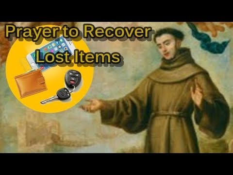 prayer to st anthony to recover lost items youtube. Black Bedroom Furniture Sets. Home Design Ideas