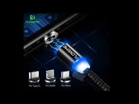 Floveme светодиодный магнитный кабель для зарядки, спасёт ваш разъём USB  #homelike,