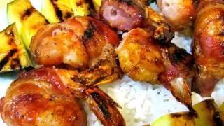 Bbq Shrimp Recipe - Bacon Wrapped Bbq Shrimp