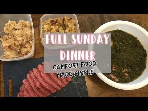 FULL SUNDAY DINNER: EASY COMFORT FOOD! |FROM START TO FINISH| Raising The Lee's Vlogs