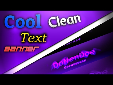 How To Make Cool Clean Text Banner! //Android & IOS//