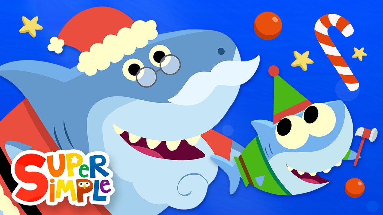 Santa Shark Baby Shark Christmas Song Featuring Finny