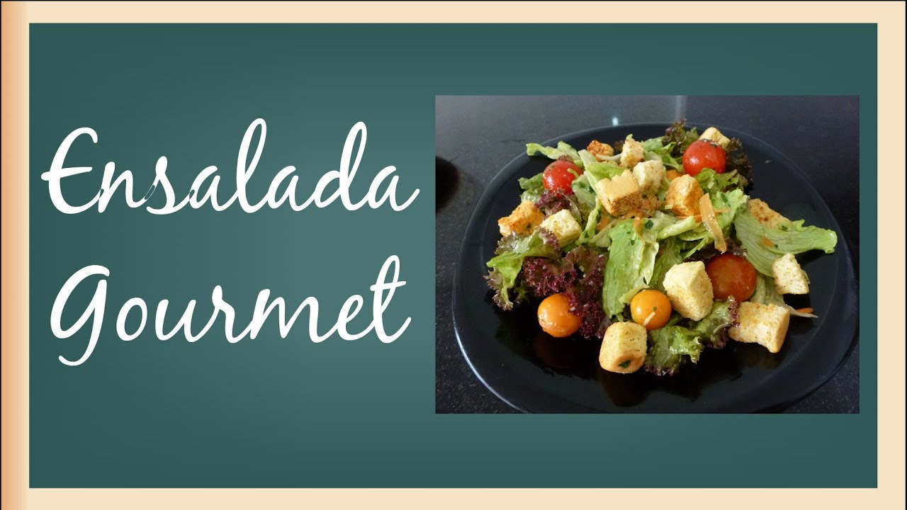 Como hacer ensalada gourmet youtube for Decoracion de ensaladas