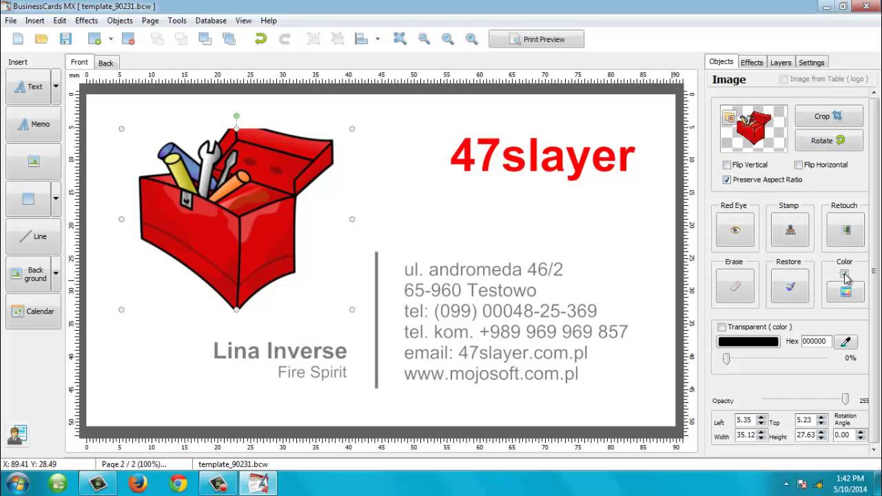 Creating business card with mojosoft business cards mx 492 youtube creating business card with mojosoft business cards mx 492 reheart Images