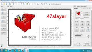 Creating Business Card with Mojosoft Business Cards MX 4.92