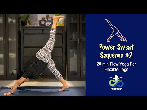 20 Min Yoga Power Sweat | Flow Yoga For Legs | Beginner Vinyasa Sequence