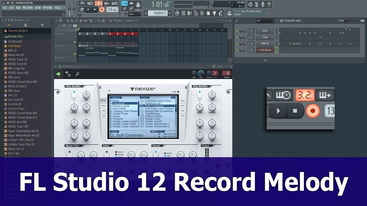 FL Studio 12 Recording tutorial: Melody To Piano Roll