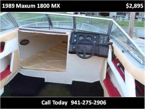 1989 maxum 1800 mx used cars bradenton florida youtube for Srq motors bradenton fl