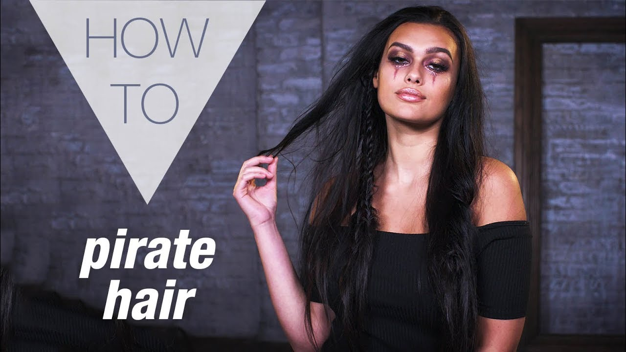 pirate | halloween | how to hair tutorial