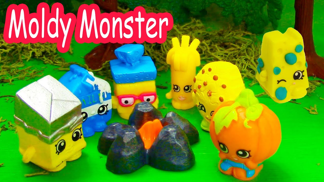 shopkins halloween campfire story moldy monster small mart limited