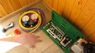 Мой инструмент для установки кондиционера(Обзор комплекта инструментов для установки кондиционера - Как устранить запах из кондиционера. Чистка,..., 2015-06-28T08:23:09.000Z)