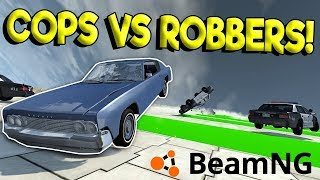 INSANE COPS VS ROBBERS DOWNHILL RACE! - BeamNG Gameplay & Crashes - Police Race