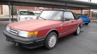 1988 Saab 900 Turbo Convertible, Start Up, Exhaust, and In Depth Tour